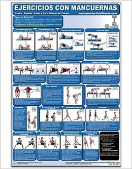 Ejercicios con Mancuernas - Centro/Espalda/pecho y parte inferior del Cuerpo - Cartel - Dumbbell Exercises-Lower Body/Core/Chest and Back Spanish Edition ...