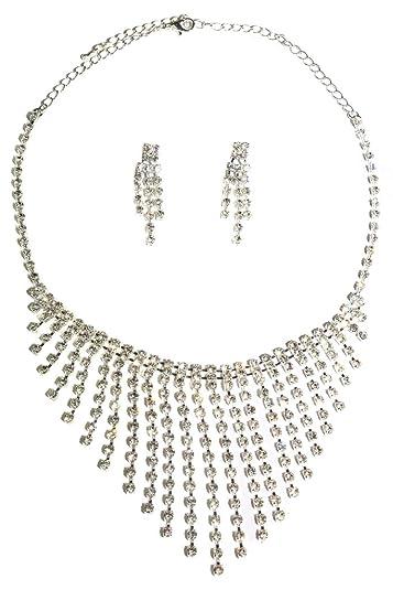 ICE (6202-5) stretchy diamante prom bracelet silver sBazj