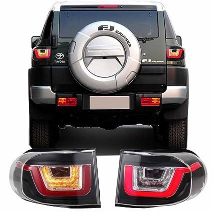Amazoncom Tail Lights For Toyota Fj Cruiser 2007 2015 Assembly Led