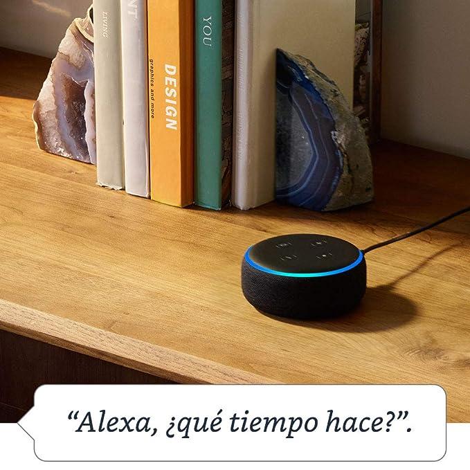 ª generación) Reacondicionado Certificado - Altavoz inteligente con Alexa, tela de color antracita: Amazon.es