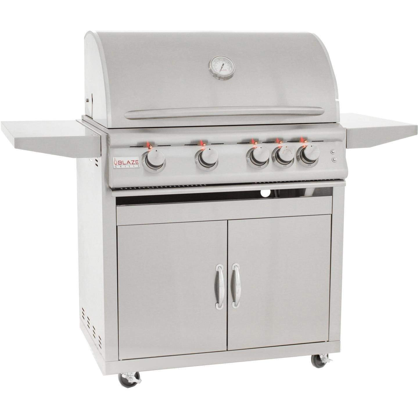 Blaze 32-inch Grill with Lights (BLZ-4LTE-LP-BLZ-4-CART), Freestanding, Propane Gas by Blaze
