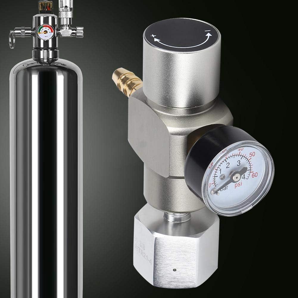 Soda Gas Regulator CO2 Gas Regulator Adattatore TR21.4 3//8 in Bar Hotel Restaurant for Home