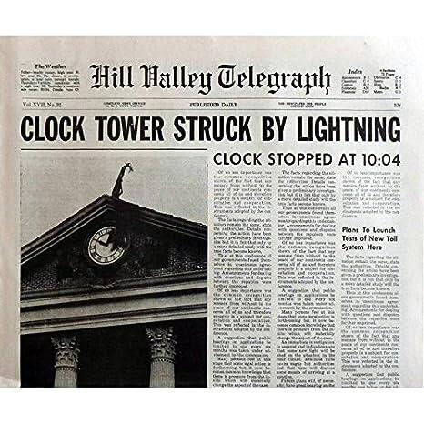 Back To The Future Periódico Prop réplica de la torre del reloj 15 x 21 en. USA - 1985 - Robert Zemeckis, Michael J. Fox: Amazon.es: Hogar