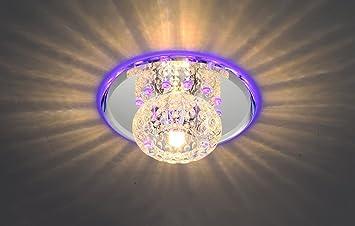 ILQ Lámpara de techo de cristal LED de alta calidad, lámpara ...