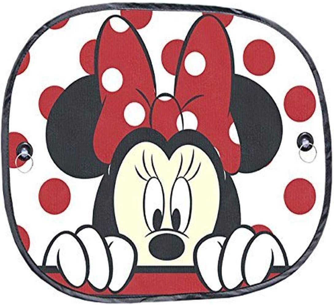 Plasticolor 003831R01 Disney Minnie Dots Foil Accordian Sunshade for Car Truck or SUV