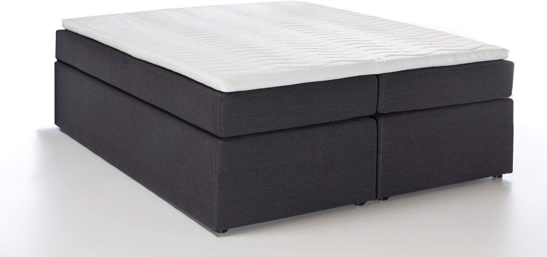 Furniture for Friends Möbelfreude Bella - Cama con somier (140 x 200 cm, dureza 2, 7 zonas, colchón de muelles ensacados, incluye sobrecolchón ...