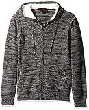 Blizzard Bay Men's Sherpa Lined Hooded Sweatshirt, Grey, Large