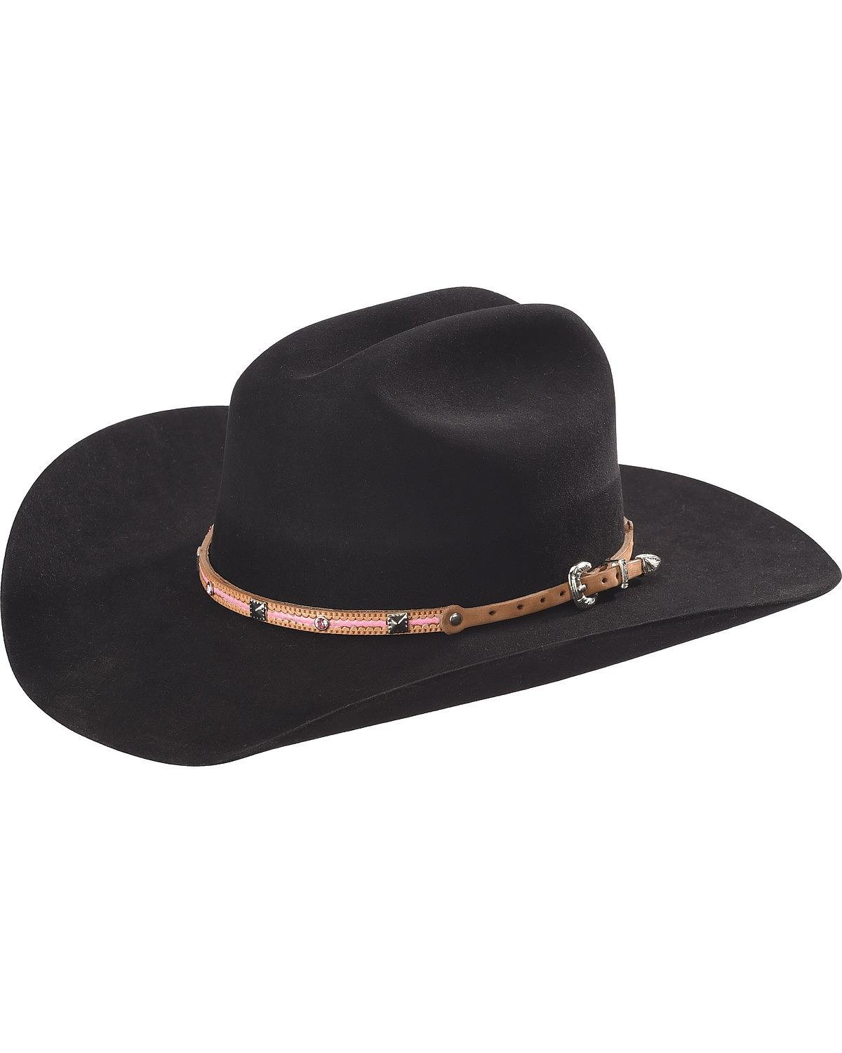Phunky Horse Women's Leather Hat Band Pink One Size