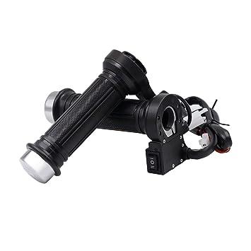 Heizgriffe Griffheizung Motorrad Lenkergriffe Elektrische Griffe 12V ATV Black