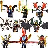 gonggamtop 8 Sets Phantom Ninja Ninjago Minifigures Building Toys Lloyd Jay Kai Blocks IR
