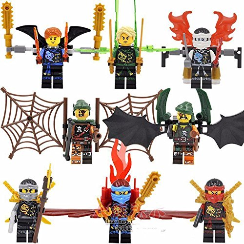 Diy Batman And Catwoman Costumes (gonggamtop 8 Sets Phantom Ninja Ninjago Minifigures Building Toys Lloyd Jay Kai Blocks IR)
