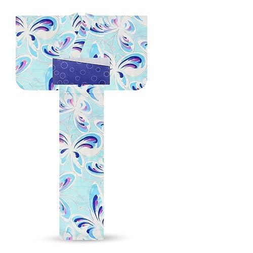 「玉城ティナ×キスミス」レディース浴衣レトロモダン【水色青蝶々】【6TSY-5】