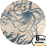 "Set of 6 eye catching absorbent coasters with cork backing, holder NOT included in this listing but it can be purchased at a discounted price separately or as a bundle by choosing the ""coaster in holder"" option. See the offer section for more..."