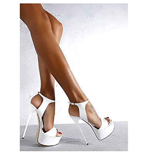 Heeled Sexy Hot Peep Toe Qqq Sandals High 16cm Open Party Heels LSUVMqGzp