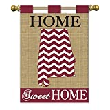 Magnolia 01848 Sweet Home Alabama Crimson Burlap Garden Flag, 13″ x 18″ Review