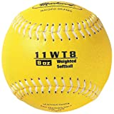 Markwort Color Coded Weighted 11-Inch Softball (8-Ounce, Yellow)