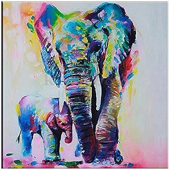 Amazon.com: Canvas Wall Art, Psychedelic Elephant Canvas