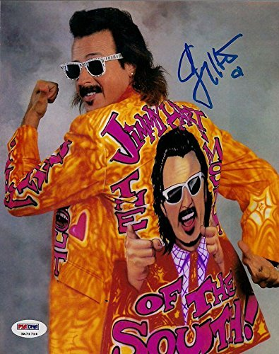 Jimmy Hart Mouth of the South Signed WWE 8x10 Photo COA Picture Auto'd - PSA/DNA Certified - Autographed Wrestling (8x10 Photo Autographed Coa Auto)