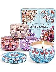 LA BELLEFÉE Doftljus/citronellaljus naturligt sojavax ljus gåvoset veganskt ljus set för vänner, familjer, födelsedagar