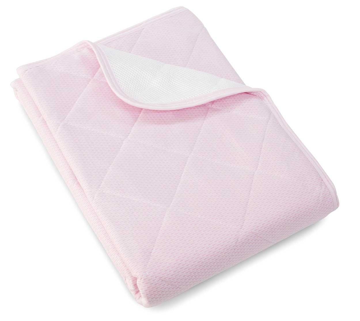 ロマンス小杉 ベットパッド敷きパッド ピンク (約)100×205cm 接触冷感 1-3131-5210-8100 B07B9BYBKR ピンク
