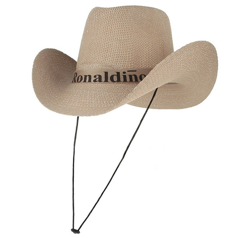 Sun Hat for Women Men, Wide Brim Mesh Beach Hat Knitted Cowboy Fisherman Hat