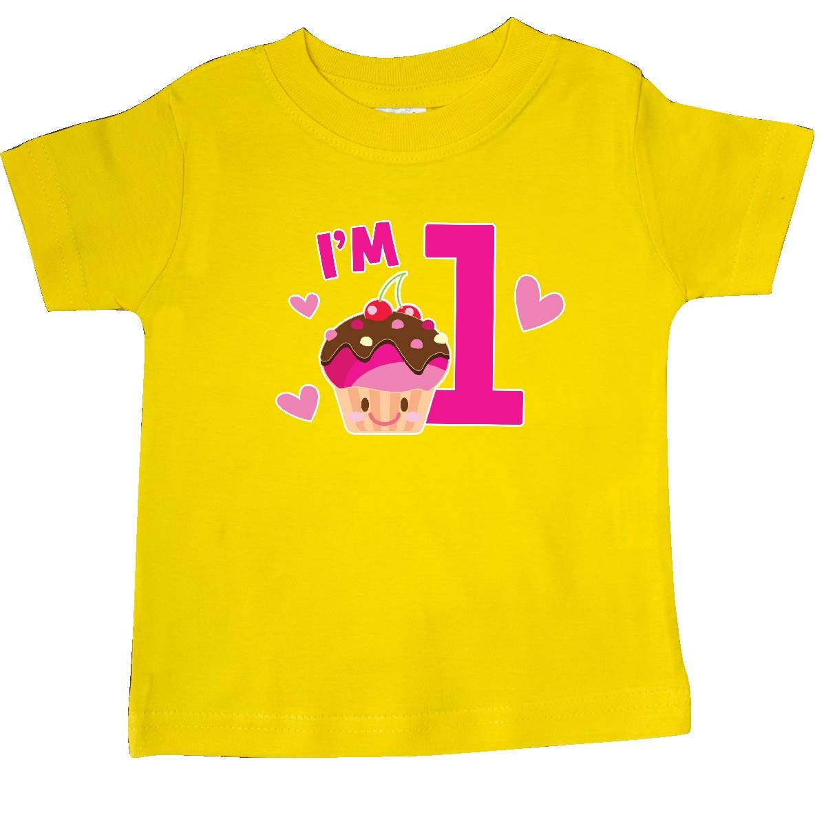 inktastic Im 1 with Cute Cupcake and Hearts Baby T-Shirt