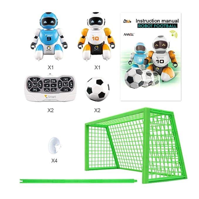 Control remoto Fútbol Robots Juguetes Baile Simulación Juguete educativo con luz intermitente y sonido Niños Juguetes de carga USB eléctricos para niños ...