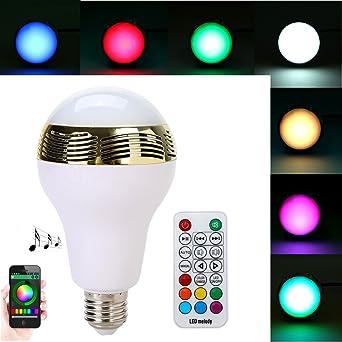 5 Touches Avec Rgb 20 Led 0 Stéréo Tkoofn E27 20w Audio Blonde Bluetooth Télécommande Ampoule Ow80kPn
