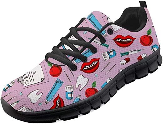 Chaqlin - Zapatillas de Deporte para Mujer, diseño de Diente de Dibujos Animados, Color, Talla 47 EU: Amazon.es: Zapatos y complementos
