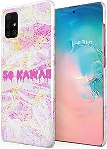 Leaking So Kawaii Colourful Kitties Hard Plastic Phone Case for Samsung Galaxy A51