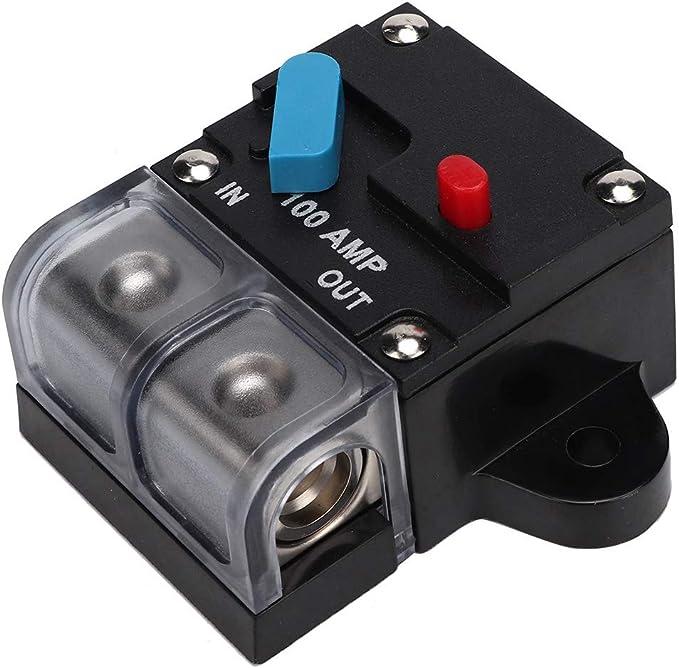 Leistungsschalter 80a 300a Auto Resetable Leistungsschalter Selbstwiederherstellungssicherung Manuelle Reset Taste Für Car Audio Und Amp Schutz 100a Auto