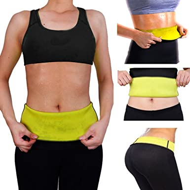 be751d8a236c4 SJ Size XXXL Hot Shaper Belly Tummy Slimming Waist Belt Trimmer Support  Weight Loss Fat Neoprene Black Color 1 Piece -14  Amazon.in  Clothing    Accessories