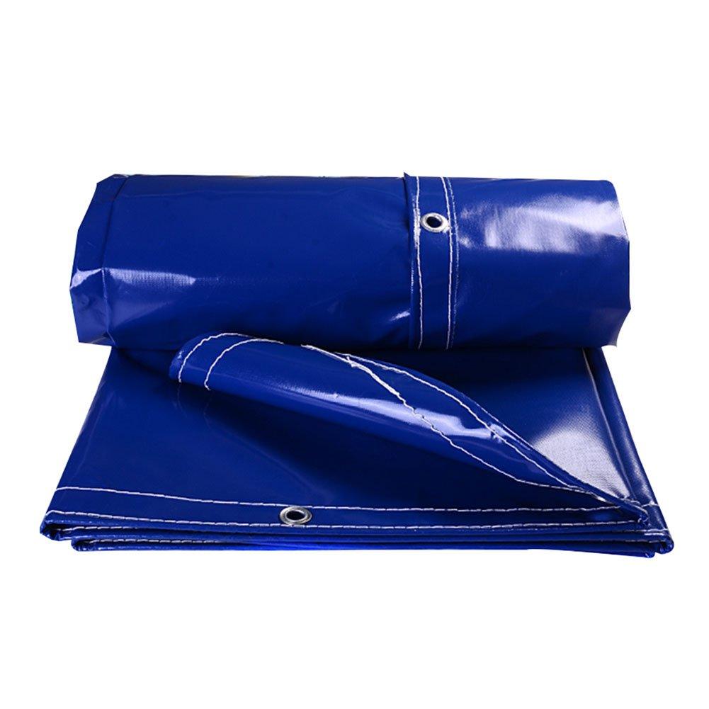 HAIPENG Plane Gewebeplane Holzplane Abdeckplane Schutzplane Verdicken Wasserdicht Draussen, Blau, Mehrere Größen, 500G M² (Farbe   Blau, größe   4x2m)