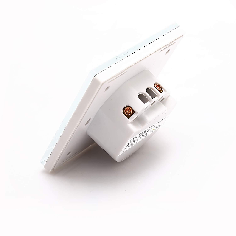 Interruttore a muro a 1 marcia per Echo Plus e ZigBee Bridge Hub installato per controllare le luci normali con Alexa Google Assistant Voice Control Smart ZigBee