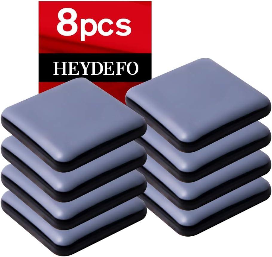 Furniture Sliders for Carpet and Hardwood Floors Adhesive Furniture Glides Self-Stick Furniture Sliders Pads (8, square40mm)