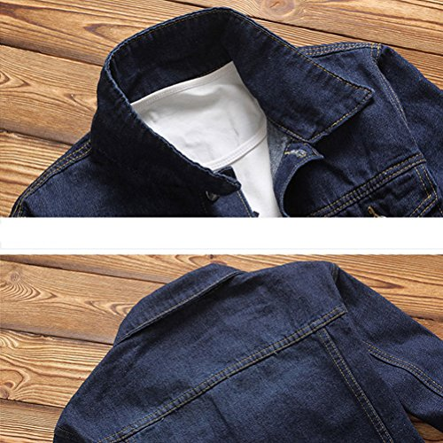 Autumn 4XL Jacket Long High Mens Zhhlaixing Quality L Size Spring Blue premium Sleeve 20 Calidad Denim nq8xS8FvwO