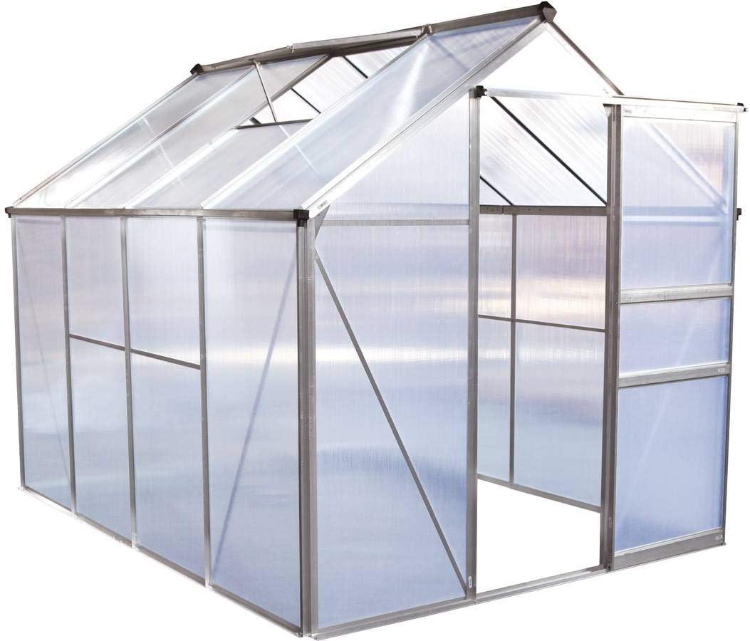 habitatetjardin Invernadero en policarbonato Hortensia 4, 8m² ...