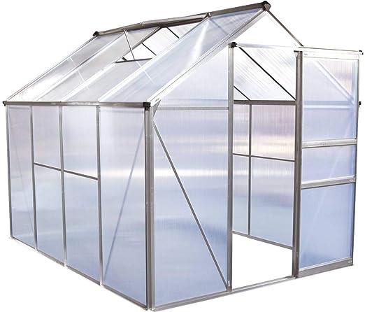 habitatetjardin Invernadero en policarbonato Hortensia 4, 8m² Transparente: Amazon.es: Jardín
