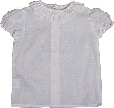 Camisas de Bebé Plumeti de Manga Corta | Camisa para Niño Entre 3 Meses y 3 Años| 100% Algodón y Cuello con Volante | Hecha en España: Amazon.es: Ropa y accesorios