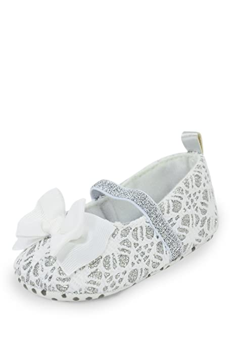 Twinkie Baby Mary Jane Style Training Shoe With Bow White Small