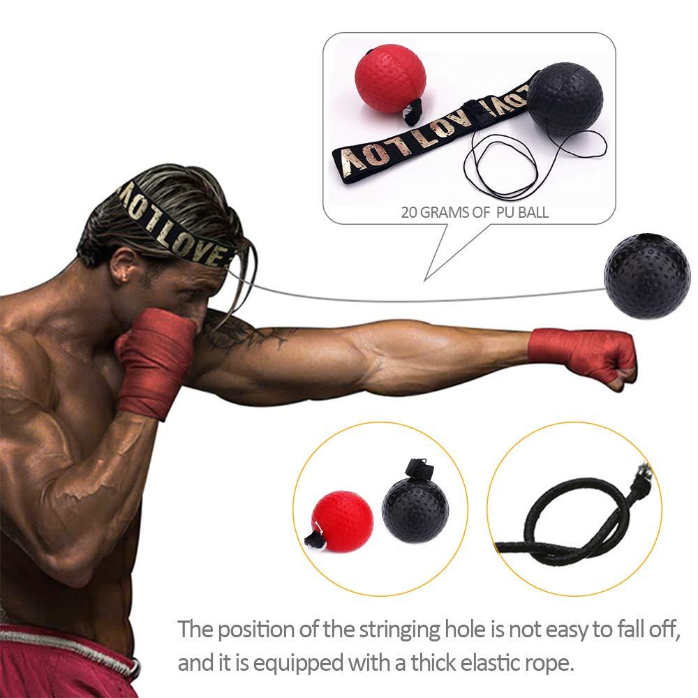 Entra/îneur Professionnel Pratiquant la Balle R/éflexe de Combat pour Lentra/înement de MMA DAZISEN Fight Ball Reflex