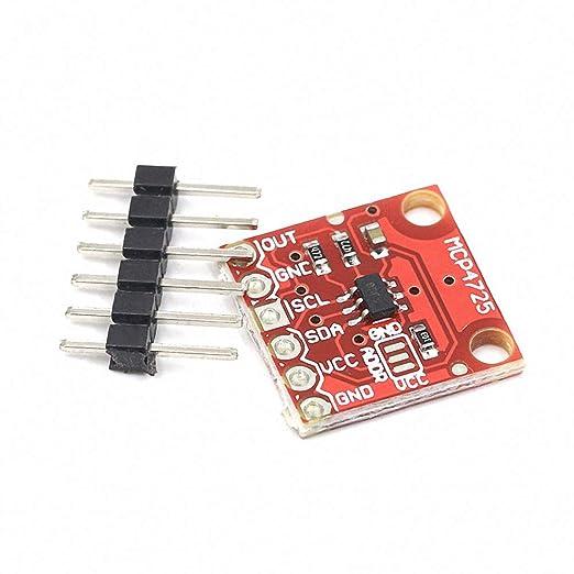 Amazon.com: MCP4725 12Bit I2C DAC Digital Converter Module Digital to Analong EEPROM Development Board for Arduino 2.7V-5.5V: Industrial & Scientific