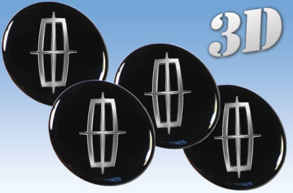 Wheel stickers Lincoln all size Centre Cap Logo Badge Wheel Trims 3d 56mm.