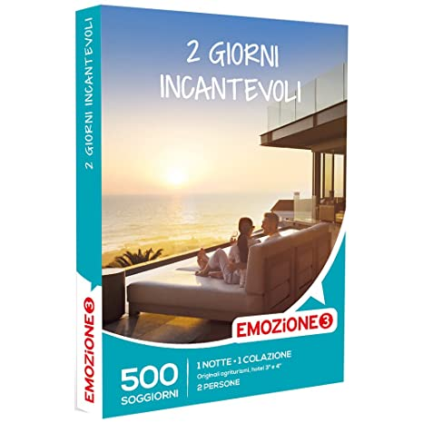 EMOZIONE3 - Cofanetto Regalo - 2 GIORNI INCANTEVOLI - 500 soggiorni ...
