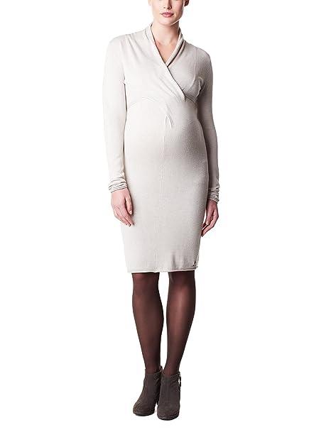 Noppies Dress Knit LS Zara 2-Vestido premamá Mujer, Beige (Sand Melange C027