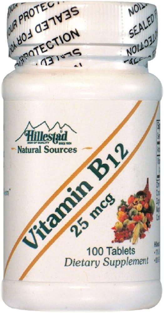 Vitamin B12-25 mcg - 100 Tablets
