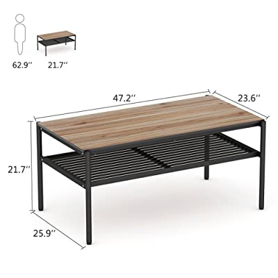 Amazon.com: Stone & Beam Roland X-Frame Coffee Table, 36\