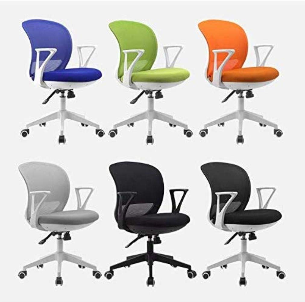Skrivbordsstolar kontorsstol datorstol hemma student arbetsrum stol kontorsstol sovsal stol svängbar stol kontor (färg: grå) gUL