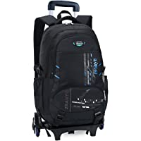 Onirii Rolling Backpack With Wheels For Kids Trolley School Bag Boys Girls