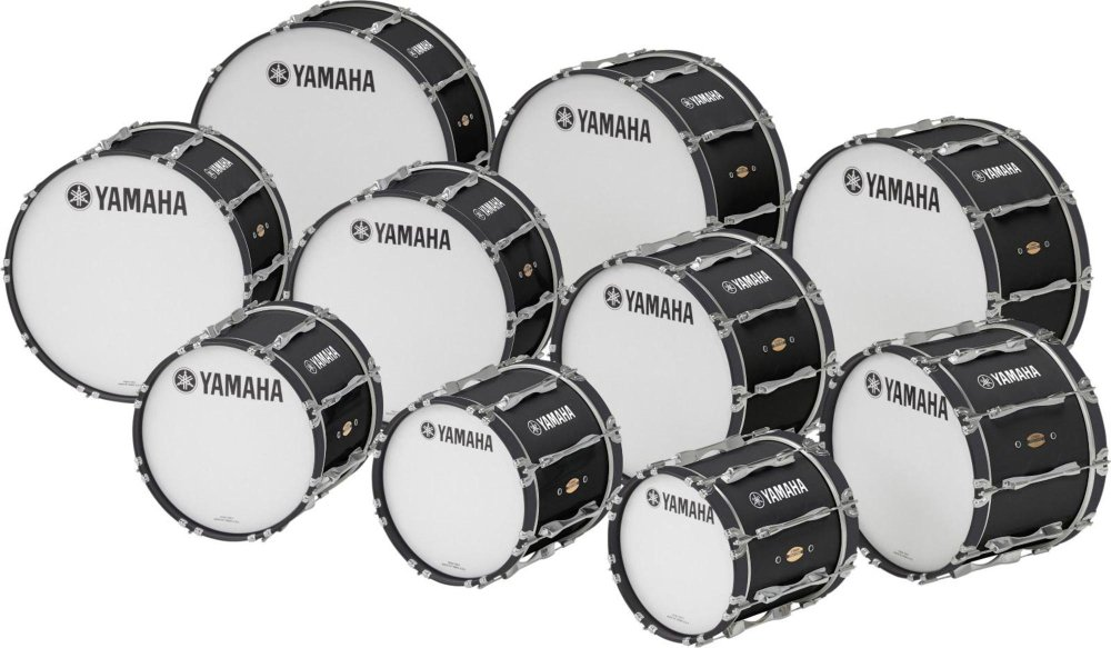 Yamaha ''22'''' x 14'''' 8300 Series Field-Corps Marching Bass Drum Black Forest''